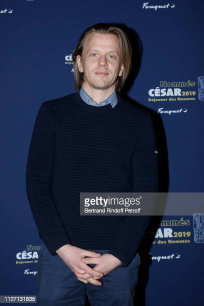 Actor Alex Lutz nominated for the Best Actor 'Cesar 2019' Award for the film 'GUY' attends the Cesar 2019 Nominee Luncheon at Le Fouquet's on...