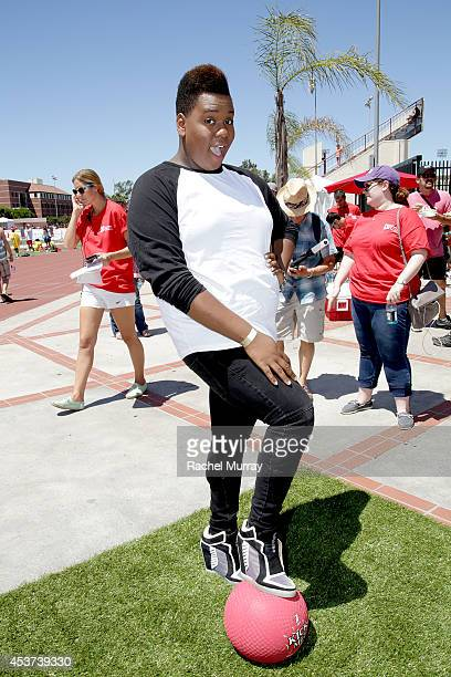 Actor Alex Newell attends Kickball For A Home Celebrity Challenge presented by Dave Thomas Foundation For Adoption at USC on August 16 2014 in Los...