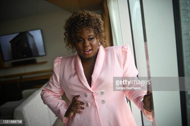 Actor Alex Newell poses for the 2021 Critics Choice Awards on March 07, 2021 in Vancouver, Canada.