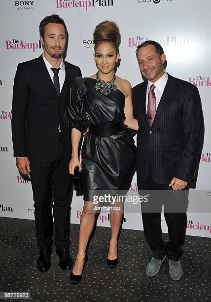 Actor Alex O'Loughlin actress Jennifer Lopez and director Alan Poul attend 'The Back Up Plan' film premiere at the Vue Leicester Square on April 28...