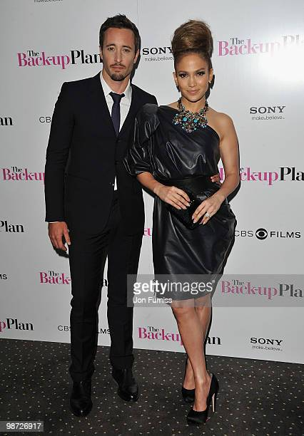 Actor Alex O'Loughlin and actress Jennifer Lopez attends 'The Back Up Plan' film premiere at the Vue Leicester Square on April 28 2010 in London...