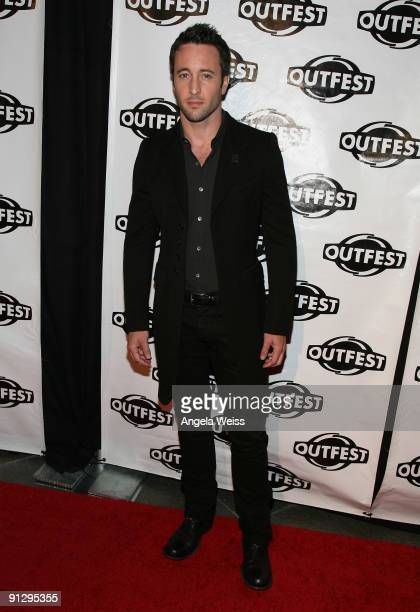 Actor Alex O'Loughlin arrives at Outfest's 2009 Legacy Awards at the DGA Theatre on September 30 2009 in West Hollywood California