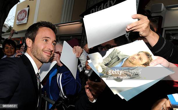 Actor Alex O'Loughlin arrives at the premiere of CBS Films' The Backup Plan held at the Regency Village Theatre on April 21 2010 in Westwood...