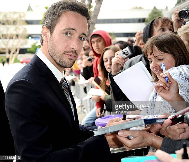 Actor Alex O'Loughlin arrives at the premiere of The Backup Plan held at Regency Village Theatre on April 21 2010 in Westwood California