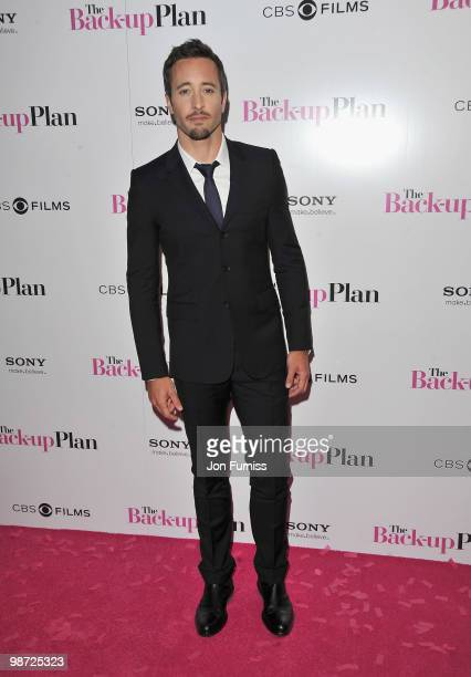 Actor Alex O'Loughlin attends 'The Back Up Plan' film premiere at the Vue Leicester Square on April 28 2010 in London England