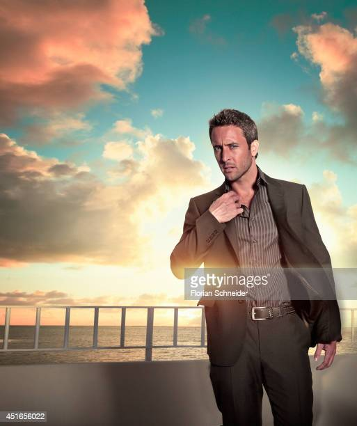 Actor Alex O'Loughlin is photographed for Emmy Magazine on February 6 2011 in Los Angeles California