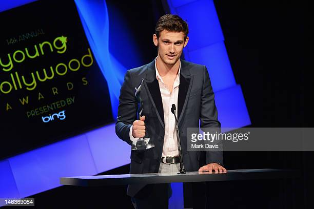 Actor Alex Pettyfer accepts Superstar of Tomorrow Award during the 14th Annual Young Hollywood Awards presented by Bing at Hollywood Athletic Club on...