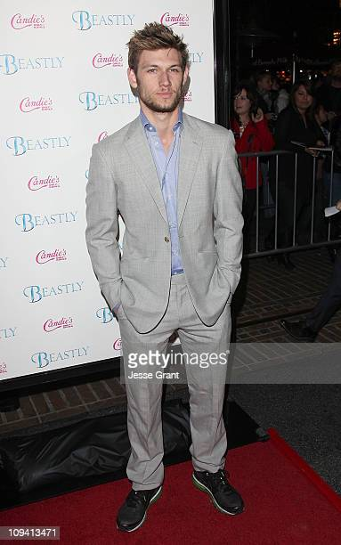 Actor Alex Pettyfer arrives at the Beastly Los Angeles Premiere at The Grove on February 24 2011 in Los Angeles California