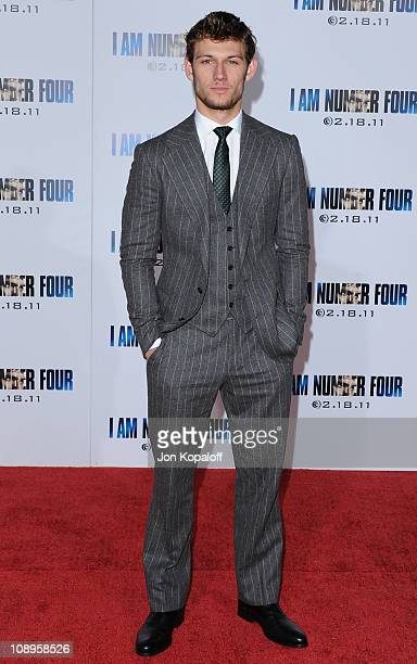 Actor Alex Pettyfer arrives at the Los Angeles Premiere I Am Number Four at Mann's Village Theatre on February 9 2011 in Westwood California