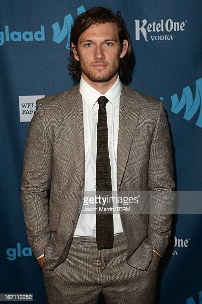 Actor Alex Pettyfer attends the 24th Annual GLAAD Media Awards at JW Marriott Los Angeles at LA LIVE on April 20 2013 in Los Angeles California