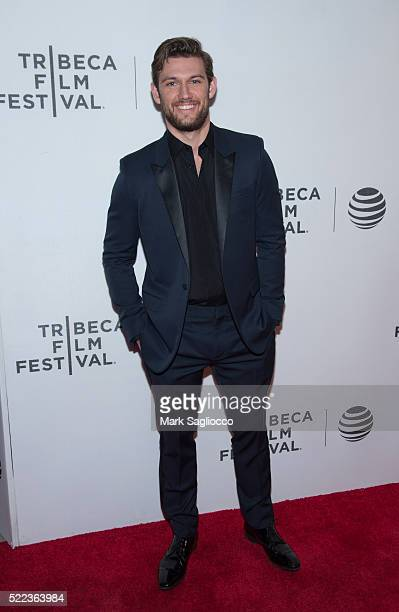 Actor Alex Pettyfer attends the 'Elvis Nixon' Premiere 2016 Tribeca Film Festival at the John Zuccotti Theater at BMCC Tribeca Performing Arts Center...