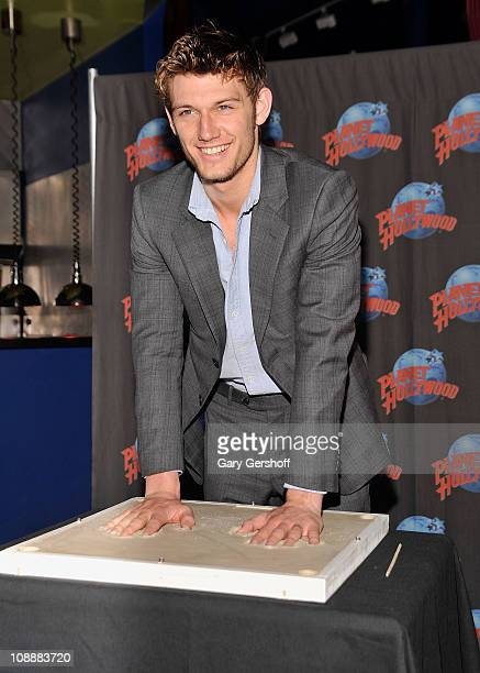 Actor Alex Pettyfer visits Planet Hollywood on February 7 2011 in New York City