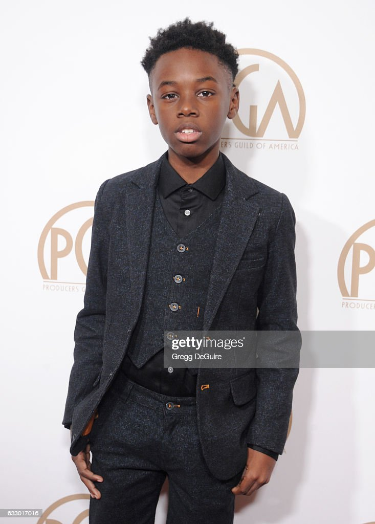 Actor Alex R. Hibbert arrives at the 28th Annual Producers Guild Awards at The Beverly Hilton Hotel on January 28, 2017 in Beverly Hills, California.