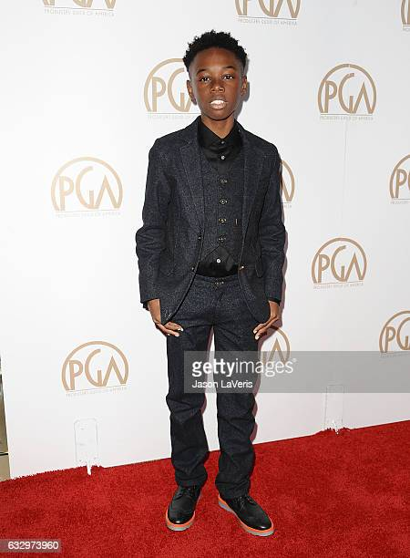Actor Alex R Hibbert attends the 28th annual Producers Guild Awards at The Beverly Hilton Hotel on January 28 2017 in Beverly Hills California