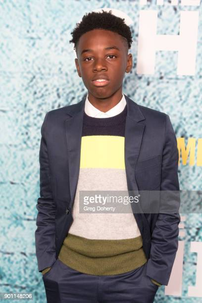 Actor Alex R Hibbert attends the Premiere Of Showtime's The Chi at Downtown Independent on January 3 2018 in Los Angeles California