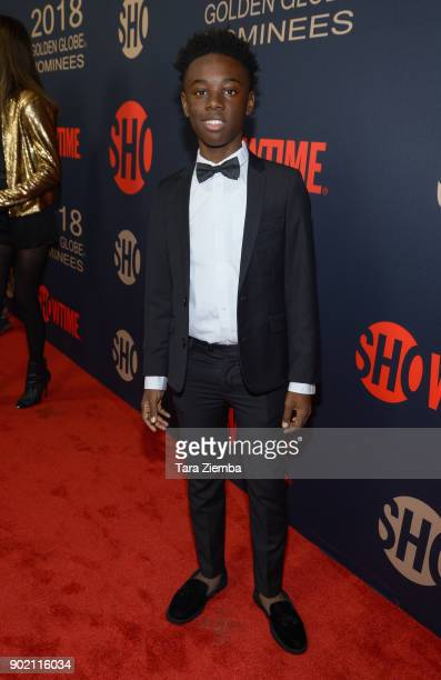 Actor Alex R Hibbert attends the Showtime Golden Globe Nominees Celebration at Sunset Tower on January 6 2018 in Los Angeles California