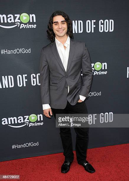 Actor Alex Rich arrives for the Premiere Of Amazon's Series Hand Of God held at Ace Theater Downtown LA on August 19 2015 in Los Angeles California