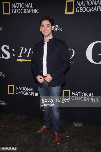 Actor Alex Rich attends the Genius Picasso interactive experience at the Genius Studio an interactive installation designed to inspire people to...