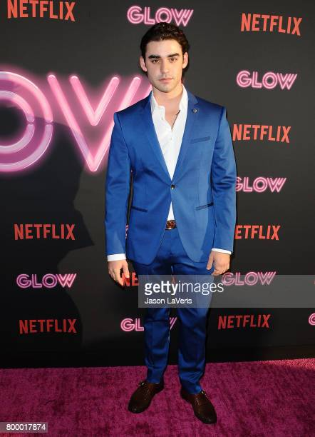 Actor Alex Rich attends the premiere of 'GLOW' at The Cinerama Dome on June 21 2017 in Los Angeles California