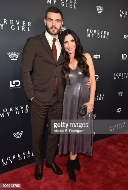 Actor Alex Roe and director Bethany Ashton Wolf attend the premiere of Roadside Attractions' 'Forever My Girl' at The London West Hollywood on...