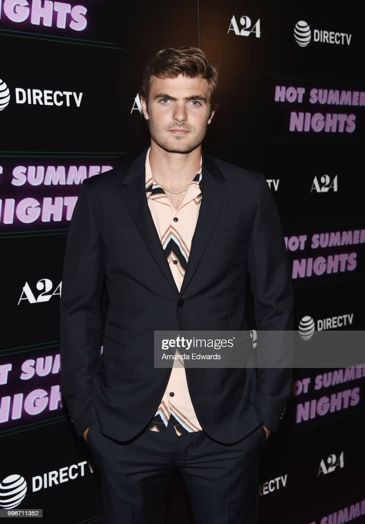 Actor Alex Roe arrives at the Los Angeles special screening of 'Hot Summer Nights' at the Pacific Theatres at The Grove on July 11, 2018 in Los Angeles, California.