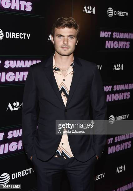 Actor Alex Roe arrives at the Los Angeles special screening of 'Hot Summer Nights' at the Pacific Theatres at The Grove on July 11 2018 in Los...