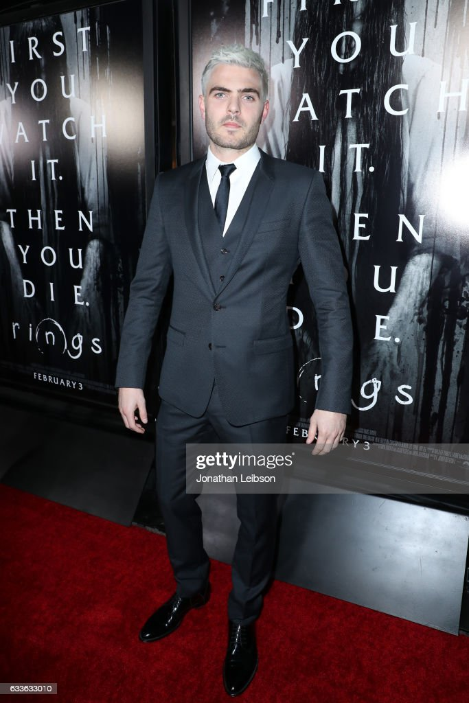 Actor Alex Roe attends the LA Fan Screening of the Paramount Pictures title 'RiNGS' at LA Live on February 2, 2017 in Los Angeles, California.
