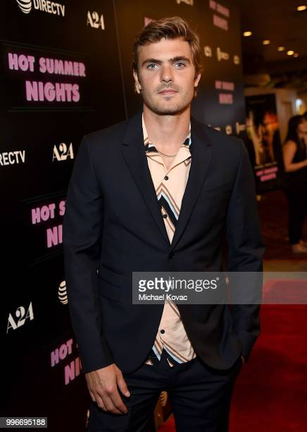 Actor Alex Roe attends the Los Angeles Special Screening of 'Hot Summer Nights' on July 11 2018 in Los Angeles California