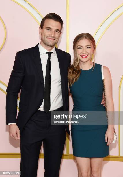 Actor Alex Russell and actress Diana Hopper arrive at the Amazon Prime Video Post Emmy Awards Party 2018 at Cecconi's on September 17 2018 in West...