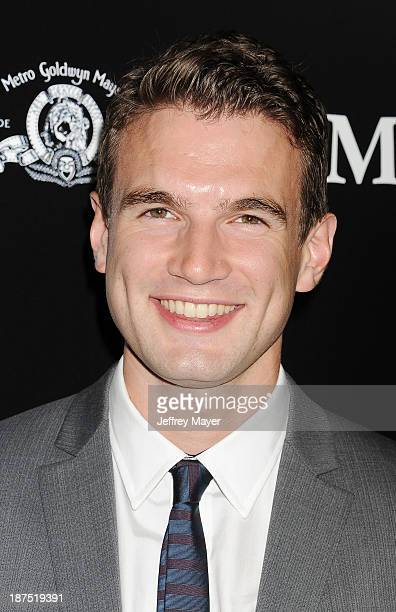 Actor Alex Russell arrives at the Los Angeles premiere of Carrie at ArcLight Hollywood on October 7 2013 in Hollywood California