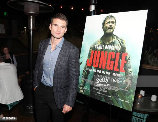 Actor Alex Russell attends a Screening Of Jungle at EP LP on October 17 2017 in West Hollywood California