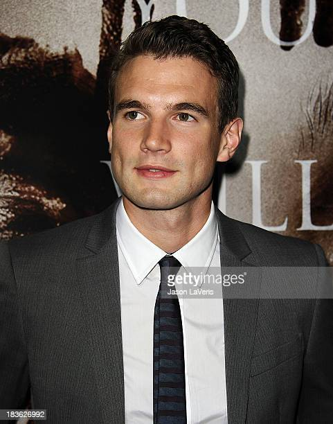 Actor Alex Russell attends the premiere of Carrie at ArcLight Hollywood on October 7 2013 in Hollywood California