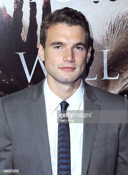 Actor Alex Russell attends the premiere of 'Carrie' on October 7 2013 at ArcLight Hollywood in Hollywood California