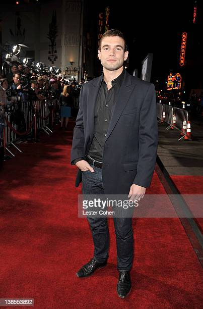Actor Alex Russell attends the This Means War Los Angeles premiere held at Grauman's Chinese Theatre on February 8 2012 in Hollywood California