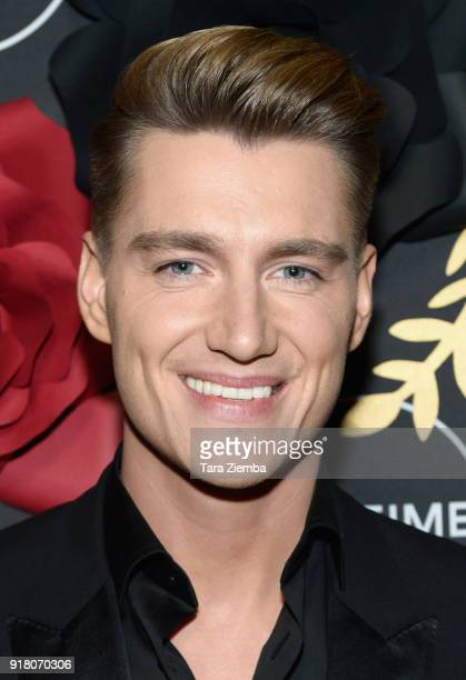 Actor Alex Sparrow attends the Lifetime hosts AntiValentine's Bash for Premieres of 'UnREAL' and 'Mary Kills People' at Eveleigh on February 13 2018...