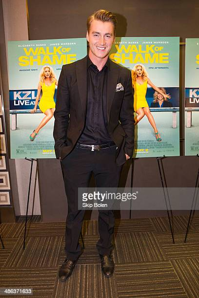 Actor Alex Sparrow attends the 'Walk of Shame' New Orleans special screening at The Theatres at Canal Place on April 23 2014 in New Orleans Louisiana