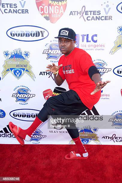 Actor Alex Thomas attends Athletes Vs Cancer Celebrity Flag Football Game at UCLA's Drake Stadium on August 23 2015 in Westwood California