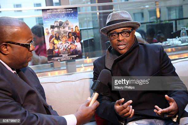 Actor Alex Thomas speaks to the media during a Press Preview for Grandma's House at House of Macau on May 6 2016 in Los Angeles California