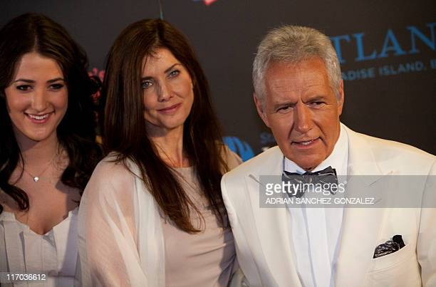 Actor Alex Trebek and Jean Currivan Trebek arrive at the 38th Annual Daytime Emmy Awards show in Las Vegas Nevada on June 19 2011 AFP PHOTO / ADRIAN...