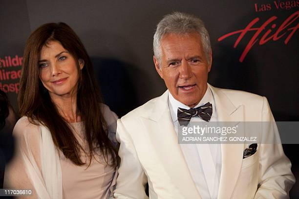 Actor Alex Trebek and wife Jean Currivan Trebek arrive at the 38th Annual Daytime Emmy Awards show in Las Vegas Nevada on June 19 2011 AFP PHOTO /...