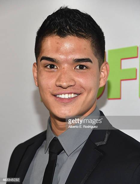 Actor Alex Wassabi attends a Fan Screening of CBS Films' 'The Duff' at the TCL Chinese 6 Theatres on February 12 2015 in Hollywood California