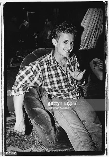 Actor Alex Winter best known for his role in the 1989 film 'Bill Ted's Excellent Adventure' at his birthday party at Club Tatou in 1991 in New York...