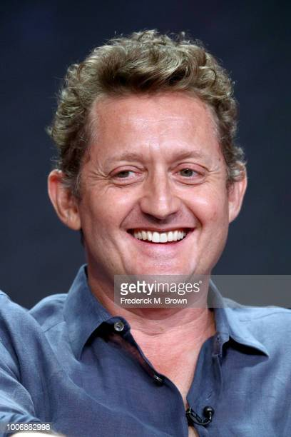 Actor Alex Winter of 'Eli Roth's History of Horror' speaks onstage during the AMC Networks portion of the Summer 2018 TCA Press Tour at The Beverly...