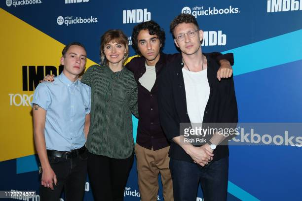 Actor Alex Wolff actress Imogen Poots director Joey Klein and actor Ker Gilchrist of 'Castle in the Ground' attend The IMDb Studio Presented By...
