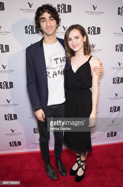 Actor Alex Wolff and actress Maude Apatow arrive at the premiere of The House of Tomorrow at the 60th San Francisco International Film Festival at...