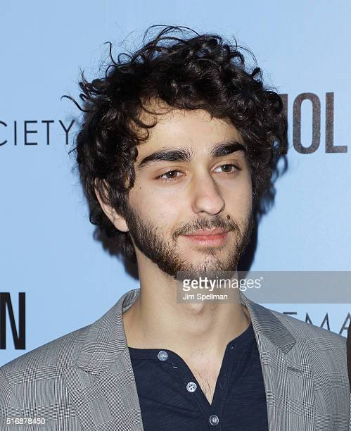 Actor Alex Wolff attend the Fox Searchlight Pictures with The Cinema Society host a screening of Demolition at the SVA Theater on March 21 2016 in...