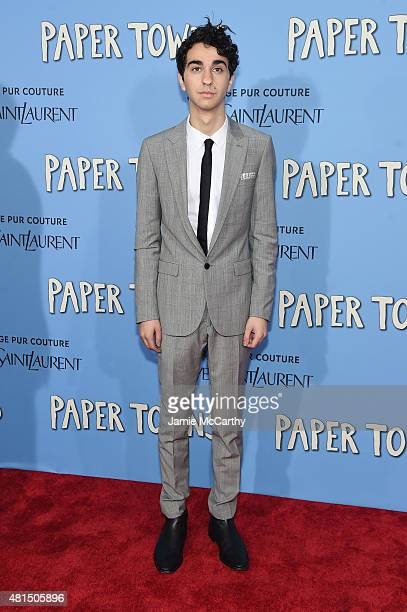 Actor Alex Wolff attends the New York premiere of 'Paper Towns' at AMC Loews Lincoln Square on July 21 2015 in New York City