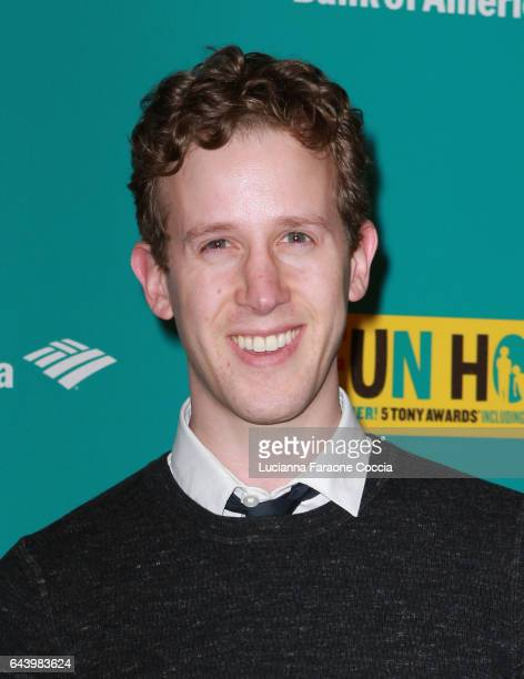 Actor Alex Wyse attends the opening night of 'Fun Home' at Ahmanson Theatre on February 22 2017 in Los Angeles California
