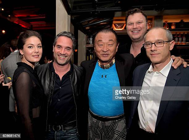 Actor Alexa Davalos Amazon Head of International Productions Morgan Wandell actor CaryHiroyuki Tagawa executive producers Erik Oleson and David...