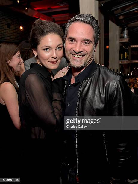 Actor Alexa Davalos and Amazon Head of International Productions Morgan Wandell attend the Amazon Red Carpet Season Two Premiere Screening of Emmy...